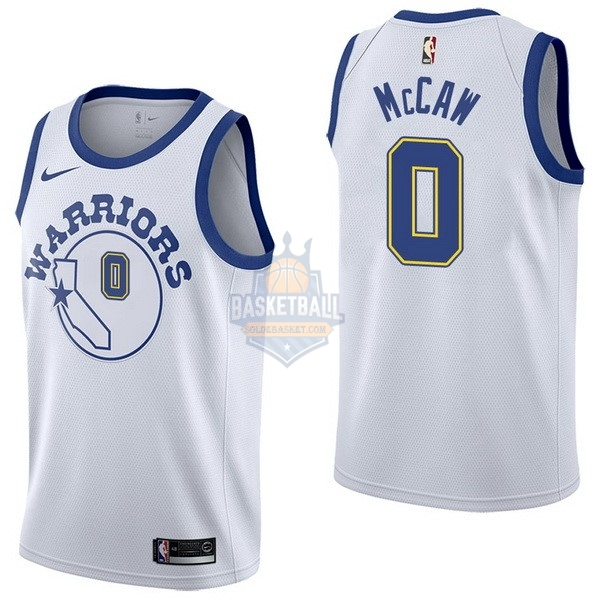 Maillot NBA Golden State Warriors NO.0 Patrick Mccaw Nike Retro Blanc 2017-18