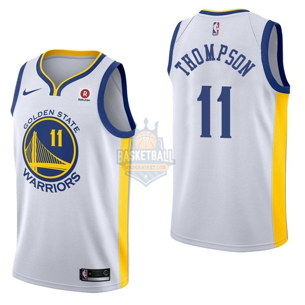 Maillot NBA Golden State Warriors NO.11 Klay Thompson Blanc 2017-18