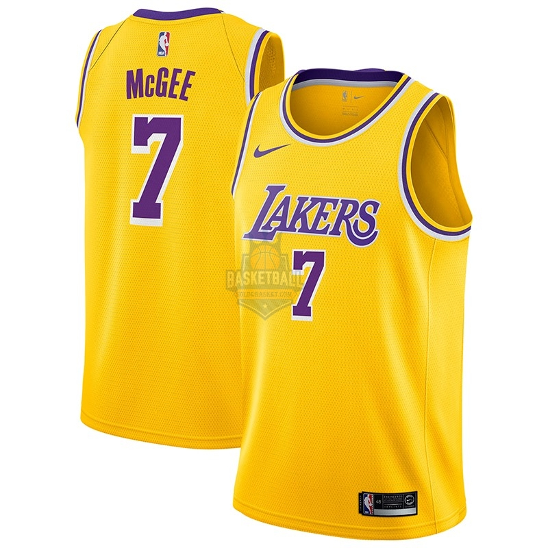 Maillot NBA Los Angeles Lakers NO.7 Javale Mcgee Jaune Icon 2018-19