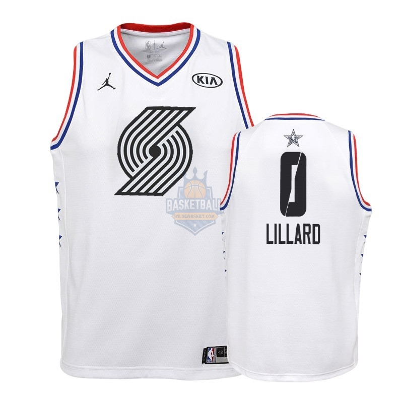 Maillot NBA Enfant 2019 All Star NO.0 Damian Lillard Blanc