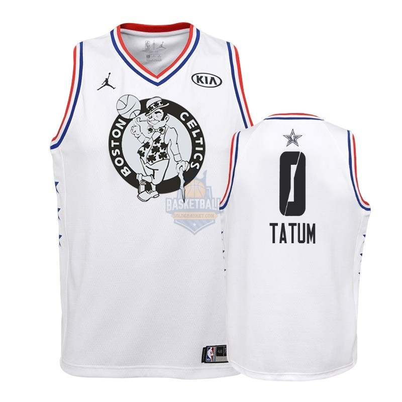 Maillot NBA Enfant 2019 All Star NO.0 Jayson Tatum Blanc