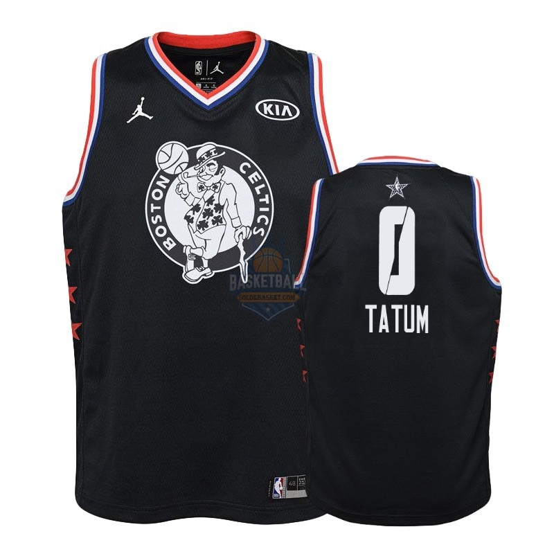 Maillot NBA Enfant 2019 All Star NO.0 Jayson Tatum Noir