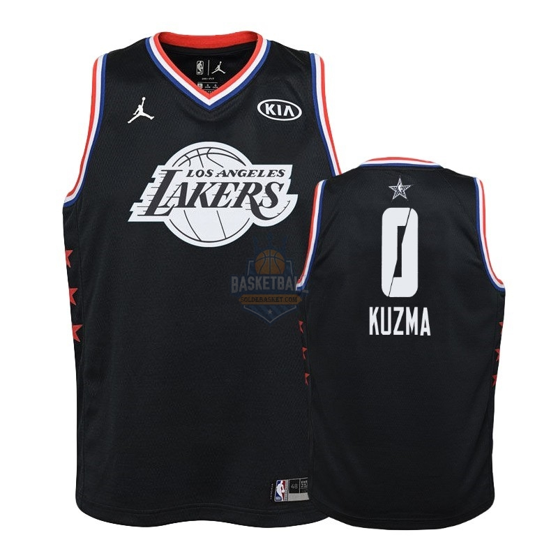 Maillot NBA Enfant 2019 All Star NO.0 Kyle Kuzma Noir