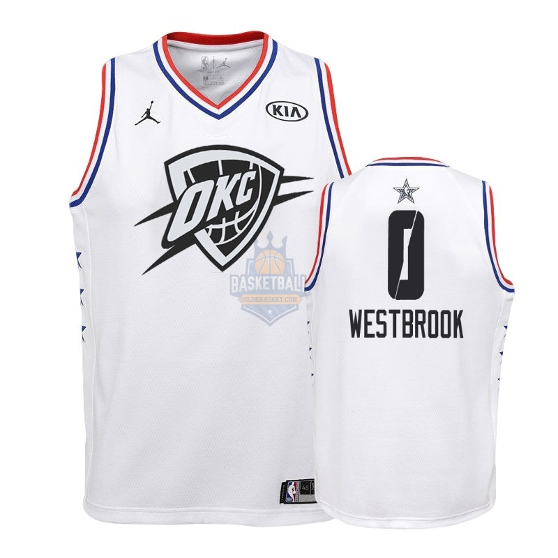 Maillot NBA Enfant 2019 All Star NO.0 Russell Westbrook Blanc