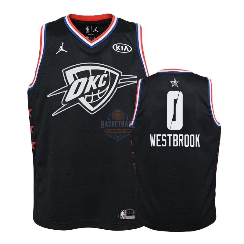 Maillot NBA Enfant 2019 All Star NO.0 Russell Westbrook Noir