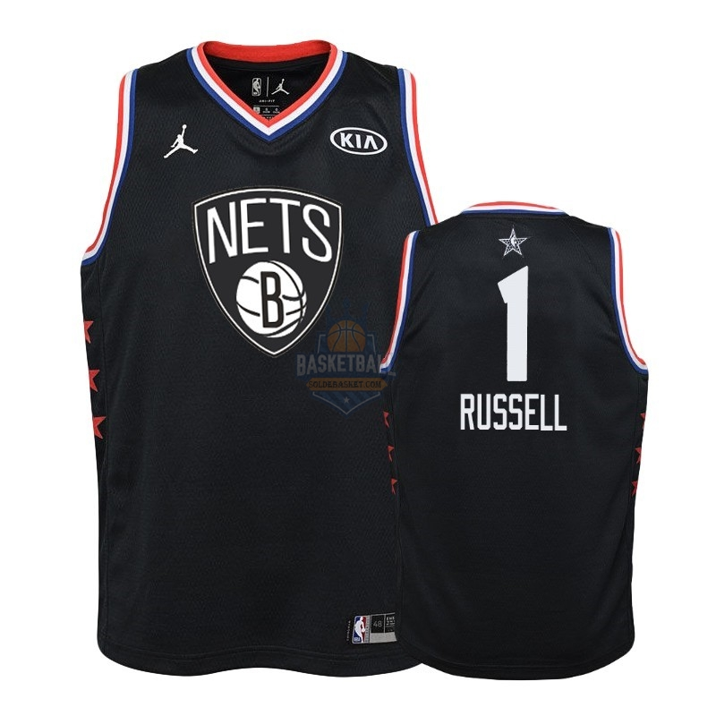 Maillot NBA Enfant 2019 All Star NO.1 D'Angelo Russell Noir