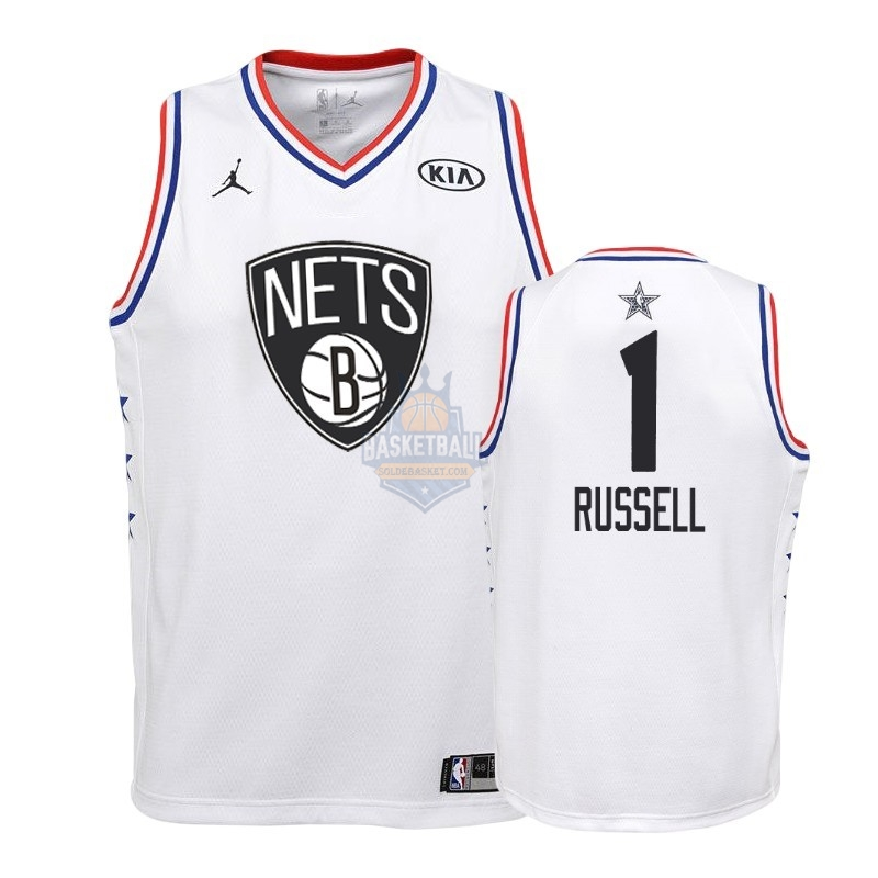 Maillot NBA Enfant 2019 All Star NO.1 Dangelo Russell Blanc
