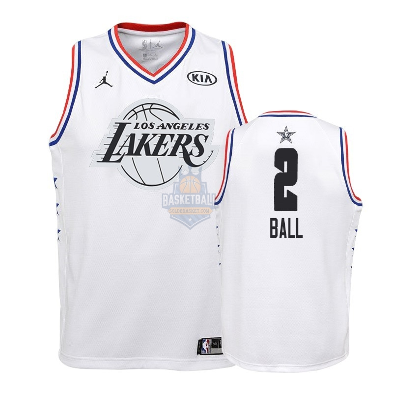 Maillot NBA Enfant 2019 All Star NO.2 Lonzo Ball Blanc