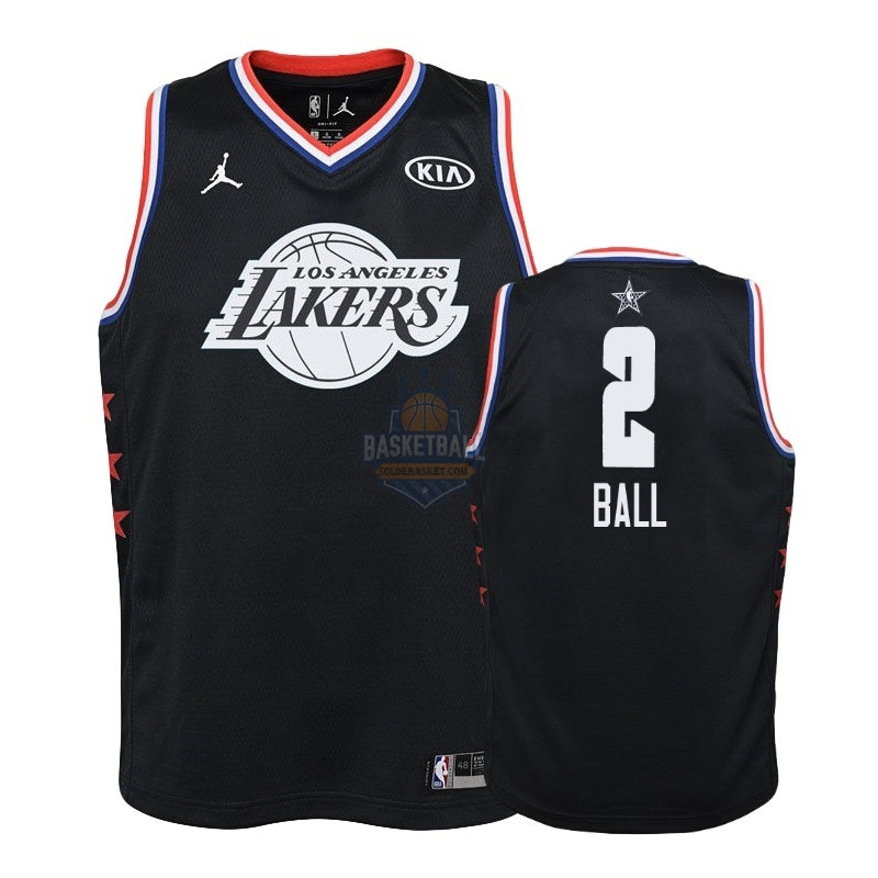 Maillot NBA Enfant 2019 All Star NO.2 Lonzo Ball Noir
