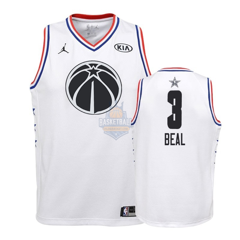 Maillot NBA Enfant 2019 All Star NO.3 Bradley Beal Blanc