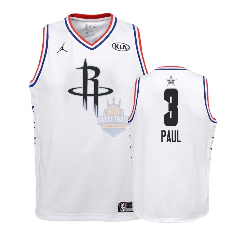 Maillot NBA Enfant 2019 All Star NO.3 Chris Paul Blanc