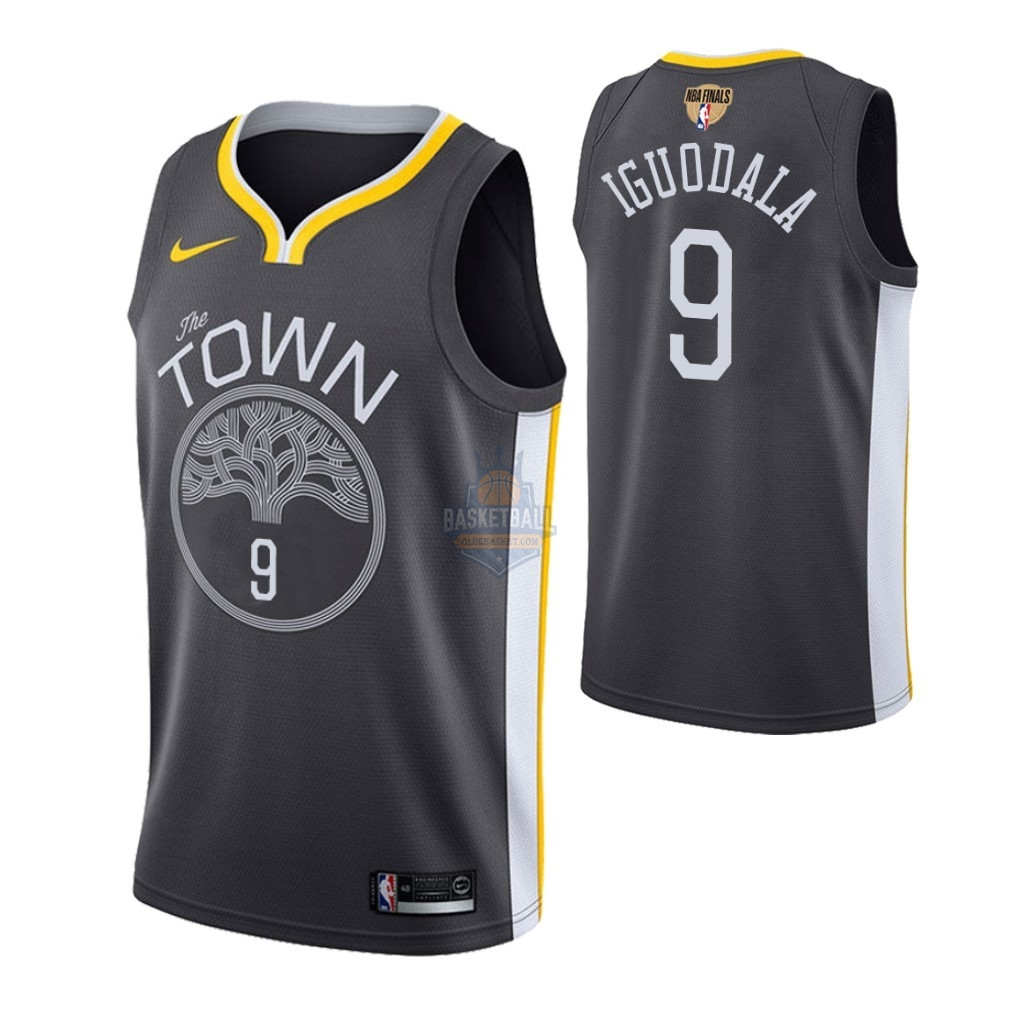 Maillot Golden State Warriors 2019 NBA Finales NO.9 Andre Iguodala Gris Statement