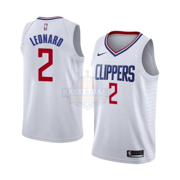 Maillot NBA Enfant Los Angeles Clippers NO.2 Kawhi Leonard Blanc Association 2019-20