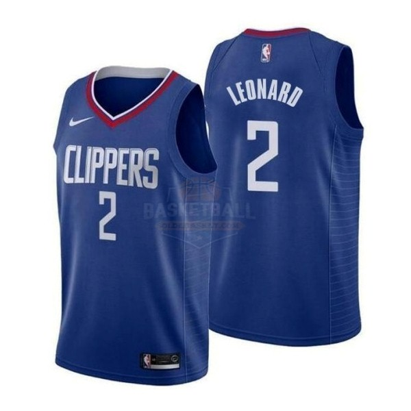 Maillot NBA Enfant Los Angeles Clippers NO.2 Kawhi Leonard Bleu Icon 2019-20