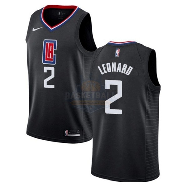 Maillot NBA Enfant Los Angeles Clippers NO.2 Kawhi Leonard Noir Statement 2019-20