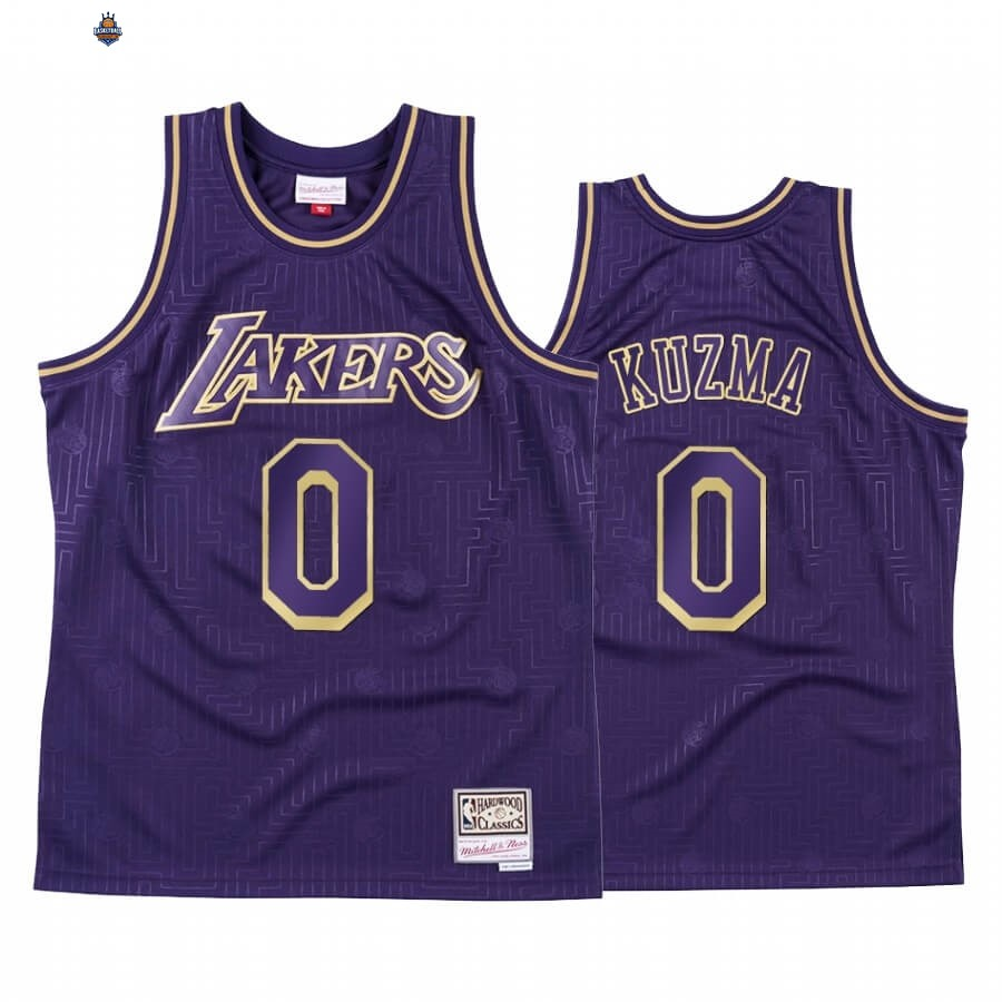 Maillot NBA CNY Throwback Los Angeles Lakers NO.0 Kyle Kuzma Pourpre 2020