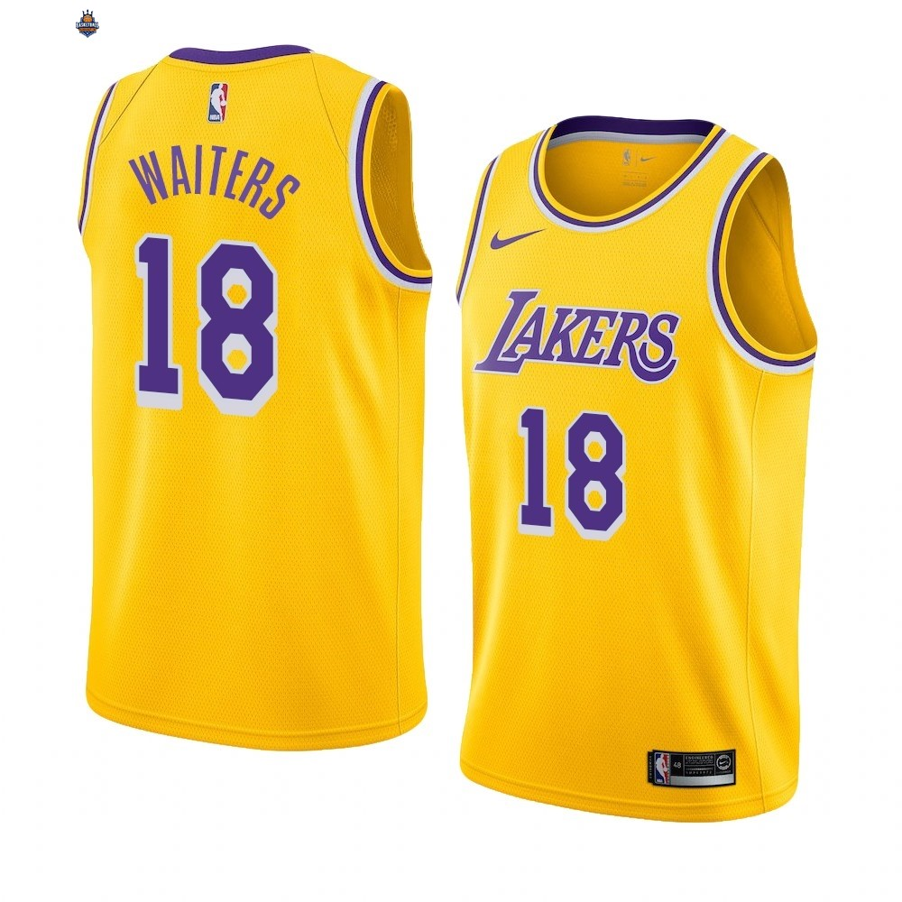 Maillot NBA Nike Los Angeles Lakers NO.18# Dion Waiters AMarine Icon 2019-20