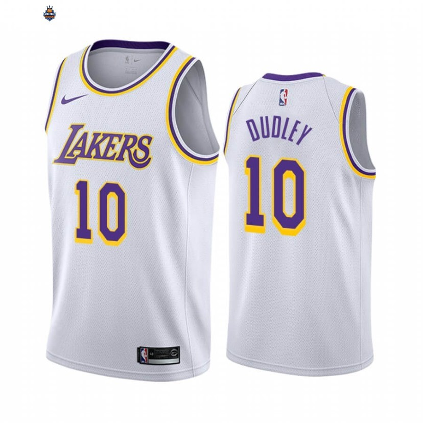 Maillot NBA Nike Los Angeles Lakers NO.10 Jared Dudley Blanc Association 2019-20