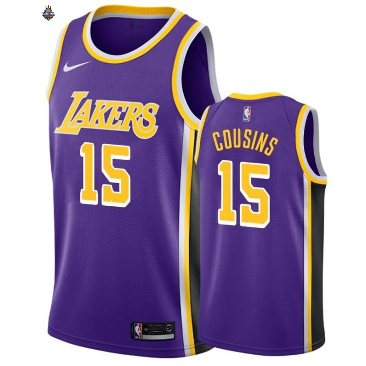 Maillot NBA Nike Los Angeles Lakers NO.15 DeMarcus Cousins Pourpre Statement 2019-20