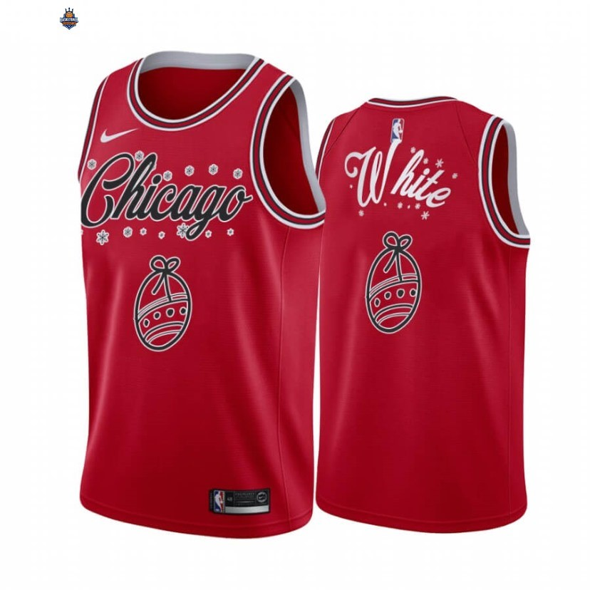 Maillot NBA Chicago Bulls 2020 Noël NO.0 Coby White Rouge