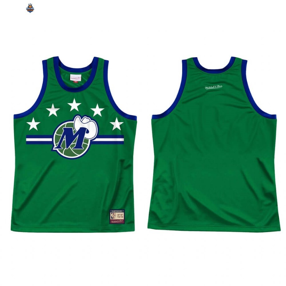 Maillot NBA Dallas Mavericks Team Heritage Vert Throwback 1980-04