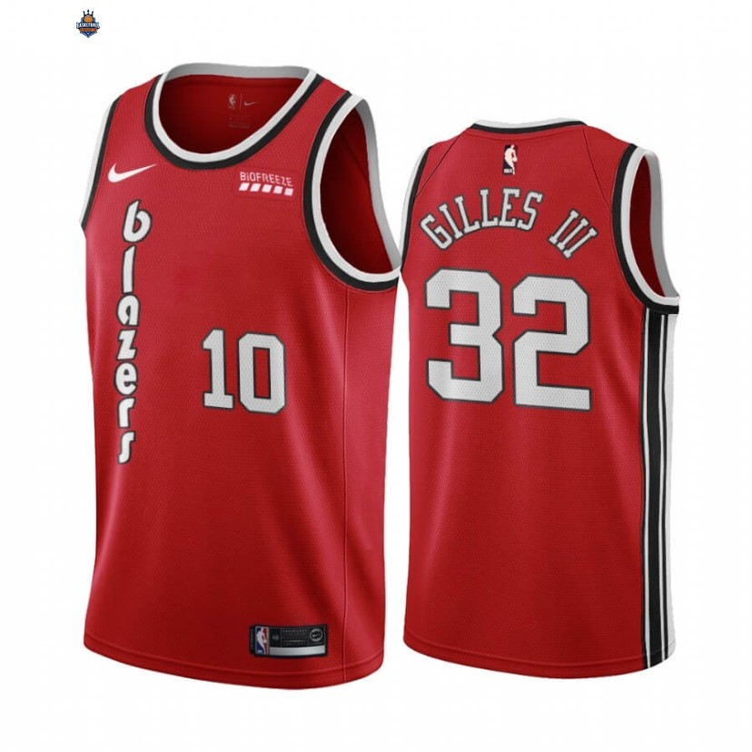 Maillot NBA Nike Portland Trail Blazers NO.10 Harry Gilles III Rouge Edition 2020-21