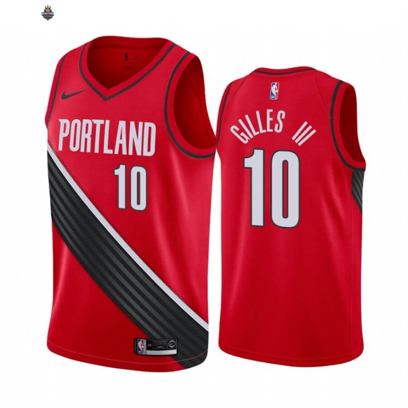 Maillot NBA Nike Portland Trail Blazers NO.10 Harry Gilles III Rouge Statement 2020-21