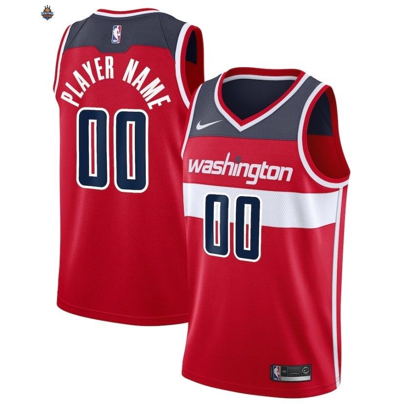 Maillot NBA Washington Wizards NO.00 Personnalisé Rouge Icon 2019-20