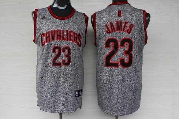 Maillot NBA 2013 Static Fashion Cleveland Cavaliers NO.23 James