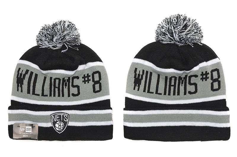 Tricoter un Bonnet NBA 2017 Brooklyn Nets Gris NO.01