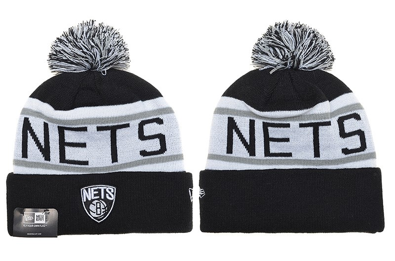 Tricoter un Bonnet NBA 2017 Brooklyn Nets Gris NO.02