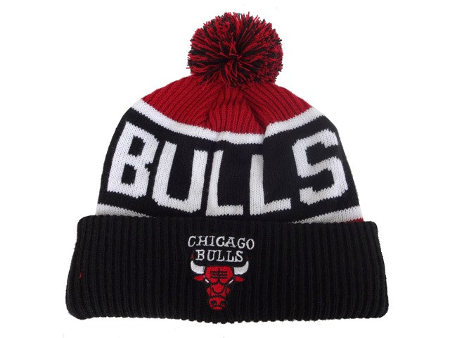 Tricoter un Bonnet NBA 2017 Chicago Bulls Noir NO.01