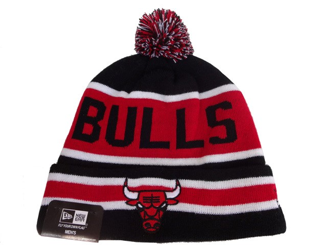 Tricoter un Bonnet NBA 2017 Chicago Bulls Noir NO.02