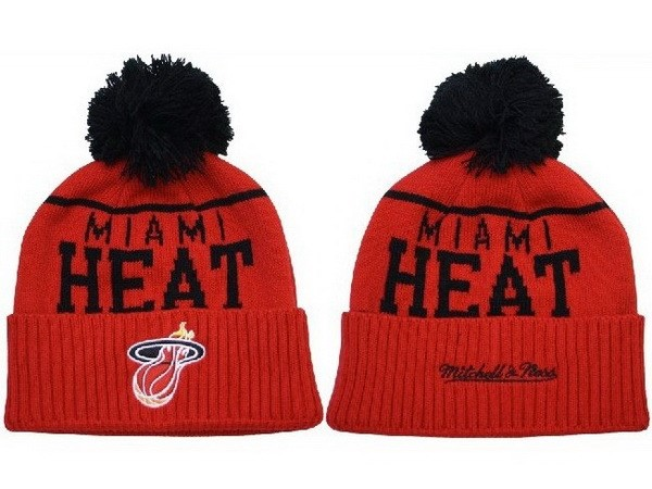 Tricoter un Bonnet NBA 2017 Miami Heat Rouge Noir NO.02
